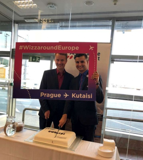 Wizz Air oteřel novou linku z Prahy do Kutaisi