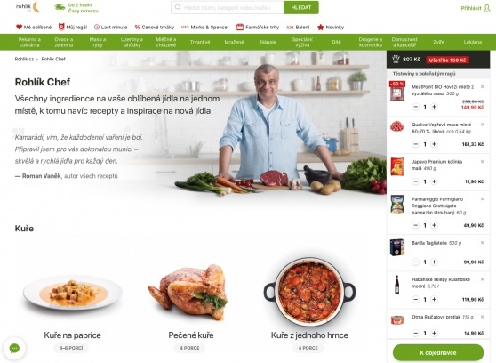 An on-line supermarket Rohlik comes with an innovation